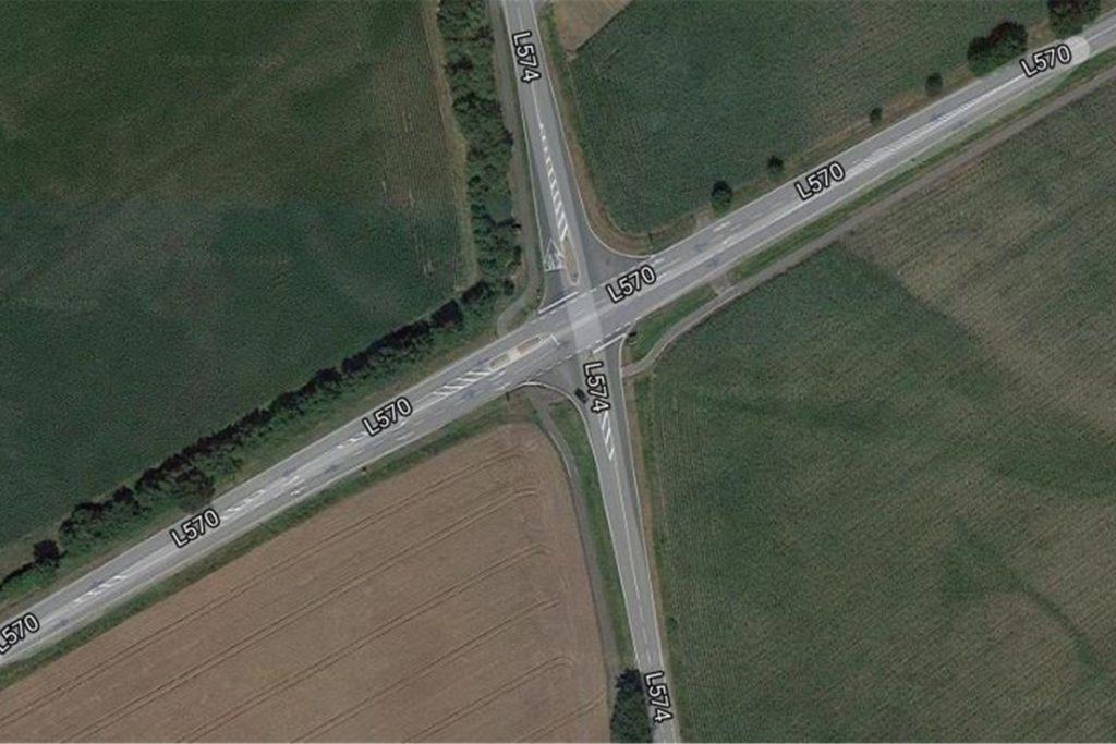"""Der Kreuzungsbereich L570/L574 gilt laut Kreis als """"Unfallhäufungsstelle"""""""