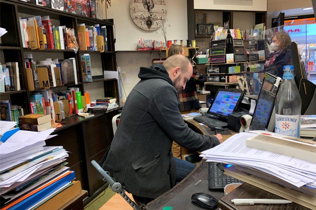 Apolonius Parrenin, Inhaber der Buchhandlung König, wird nach dem Lockdown weiter für seine Kunden da sein.