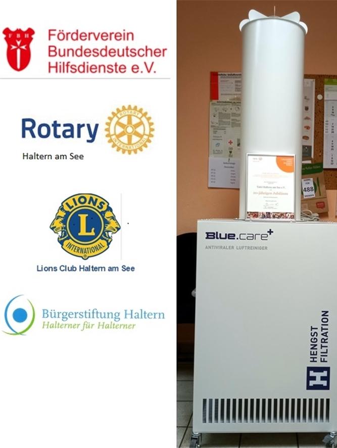 Mit Hilfe von Spenden konnte das Luftreinigungsgerät für die Halterner Tafel beschafft werden.