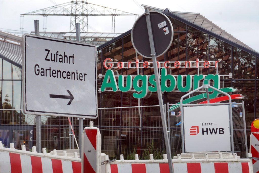 Das Gartencenter Augsburg, von der Hörder Straße aus derzeit wegen der B236-Baustelle nur stadteinwärts fahrend zu erreichen, bleibt ebenfalls mit einem Teil des Sortiments geöffnet.