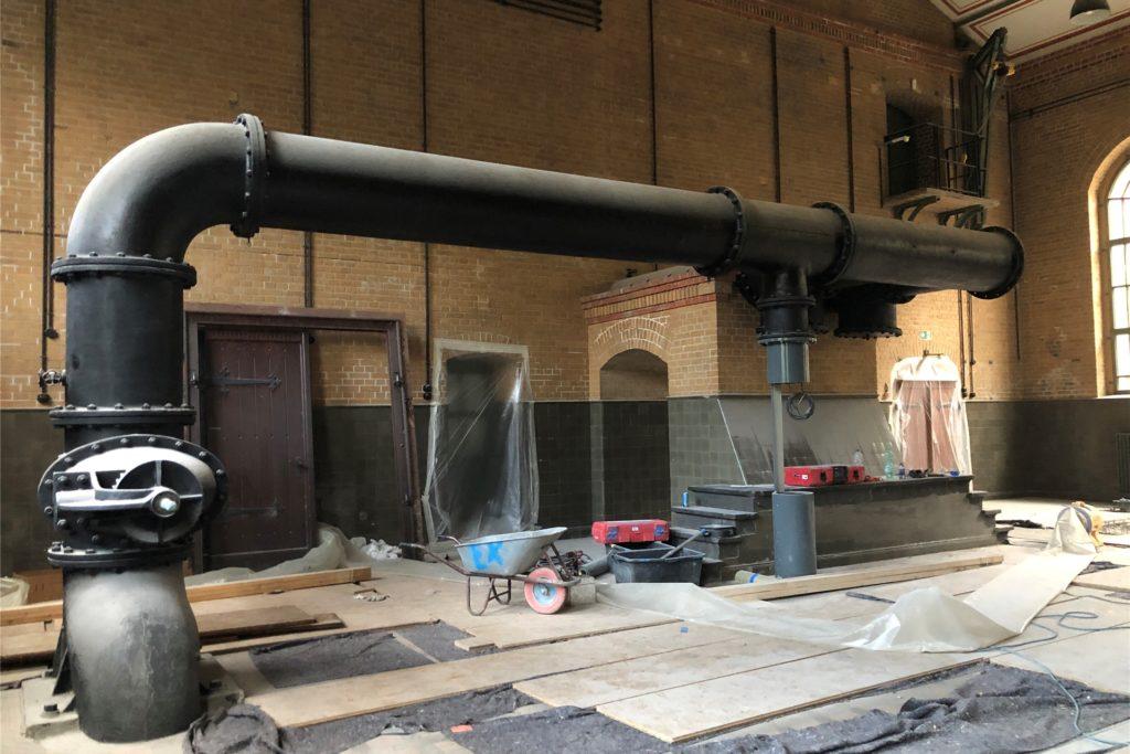 In der Maschinenhalle des Schiffshebewerks Henrichenburg wurden alle Maschinen ausgebaut.