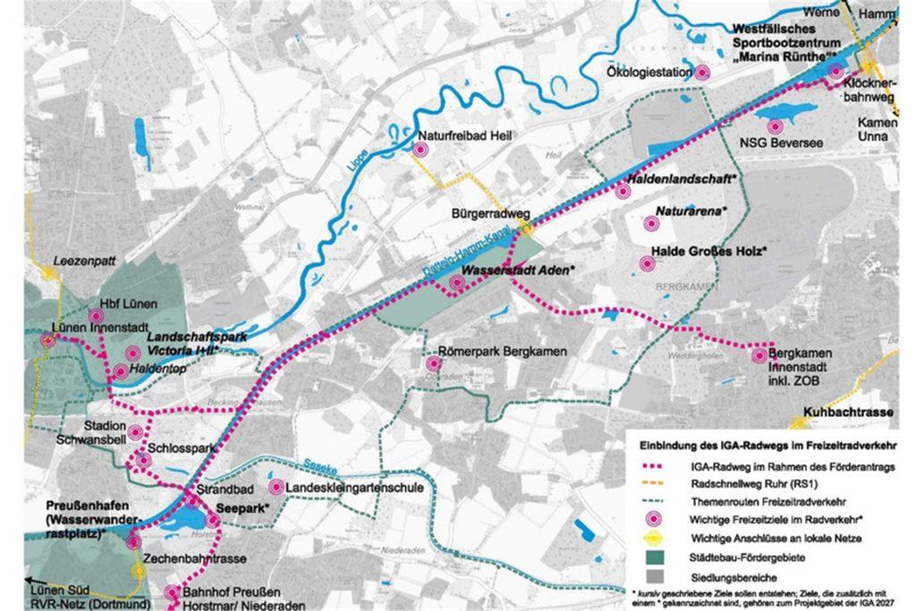 So soll der Verlauf des neuen Radweges aussehen.