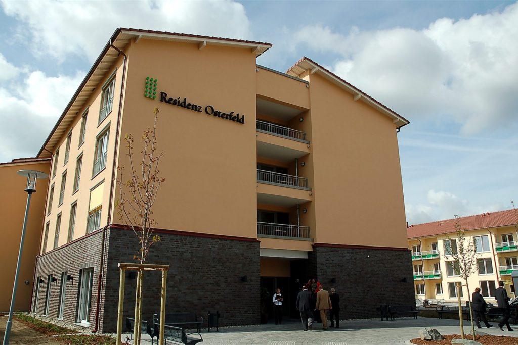 Die Residenz Osterfeld. Hier können Bewohner auch abgeholt werden, wenn entsprechende Vorgaben erfüllt werden.