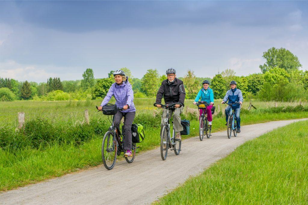 Kleine Radtouren für Werner Familien sind bei passender Kleidung auch im Winter und über die Festtage möglich.
