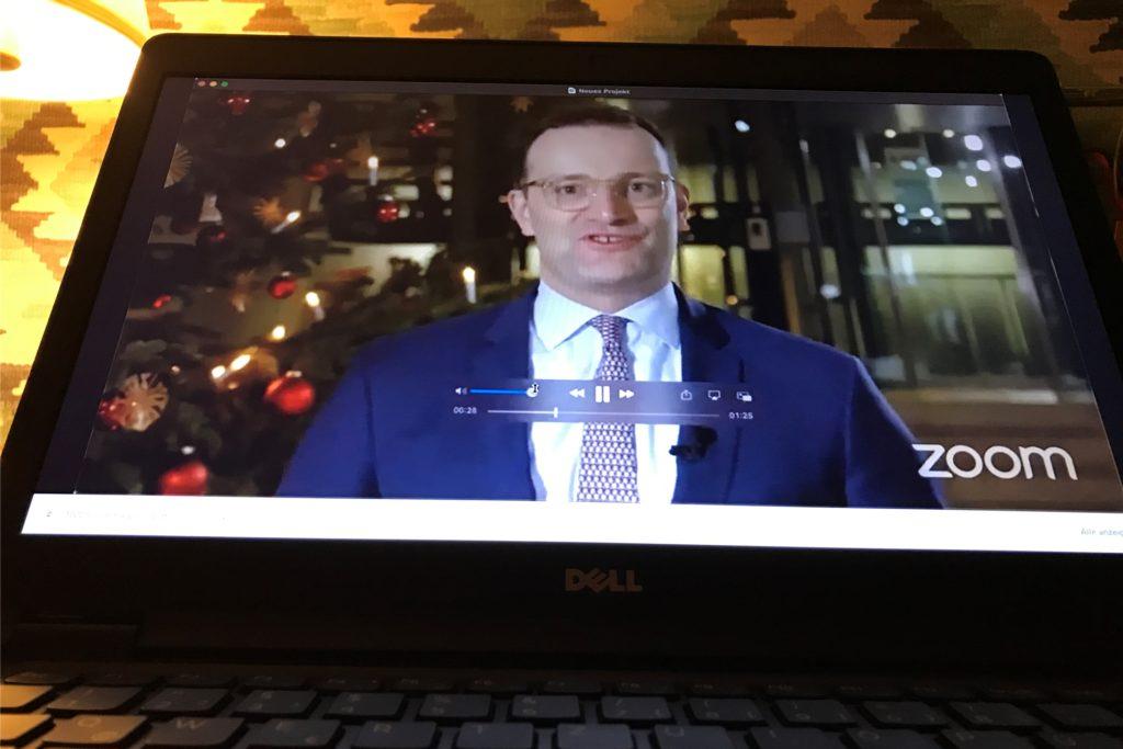 Jens Spahn hatte eine Videobotschaft für die Ellewicker und Crosewicker aufgenommen.