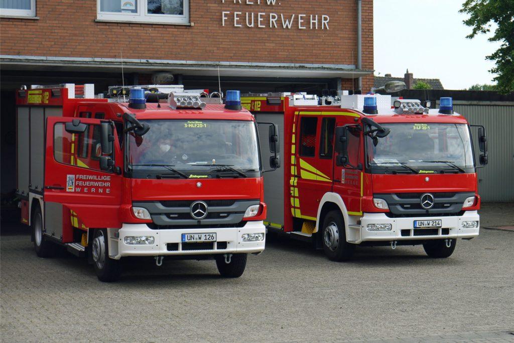 Die Feuerwehr aus Stockum hatte es nicht weit bis zum Einsatzort - sie musste schräg gegenüber zur Panhoff-Stiftung.