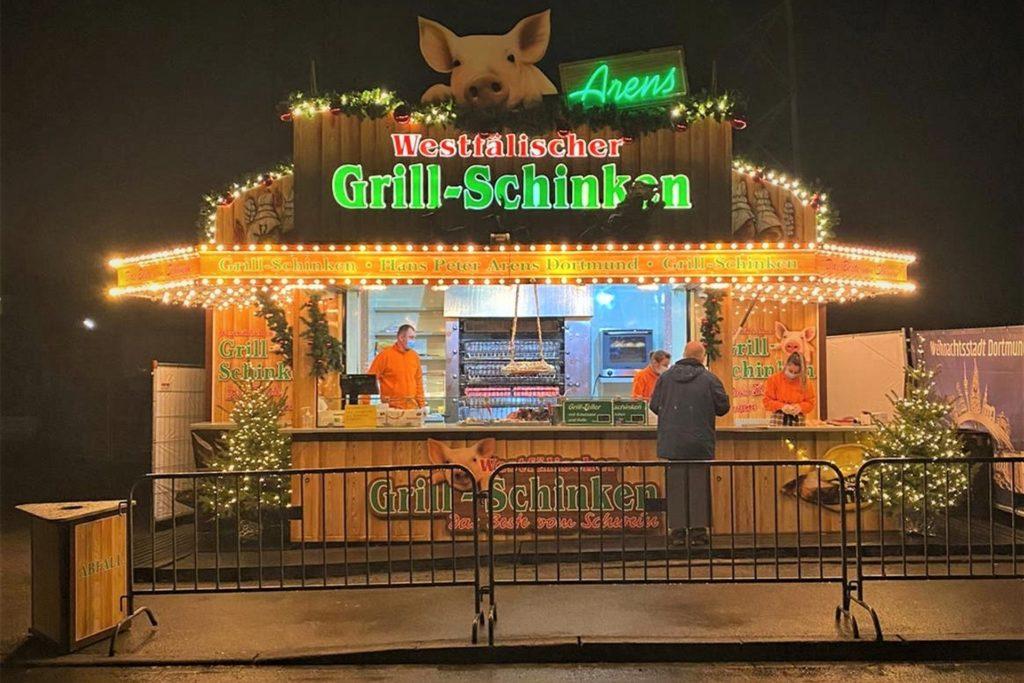 Schinkenclaus verkauft in diesem Jahr nur noch an Heiligabend ganze und halbe Grillschinken. Vielleicht geht es im Januar weiter.