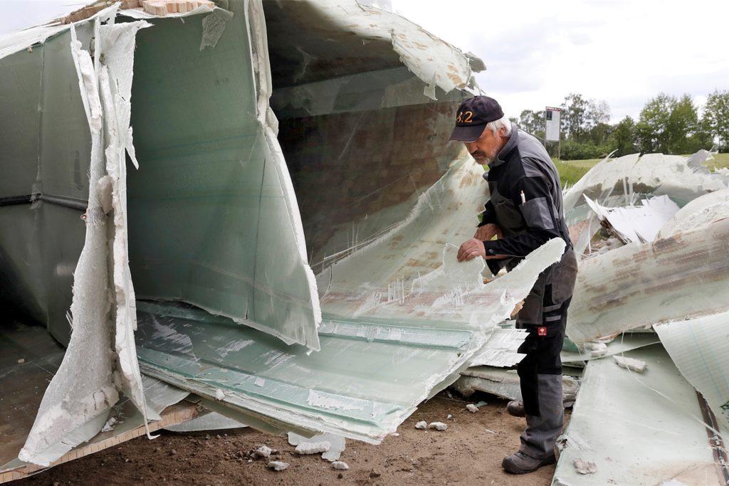 Gutachter hatten die abgestürzten Teile untersucht.