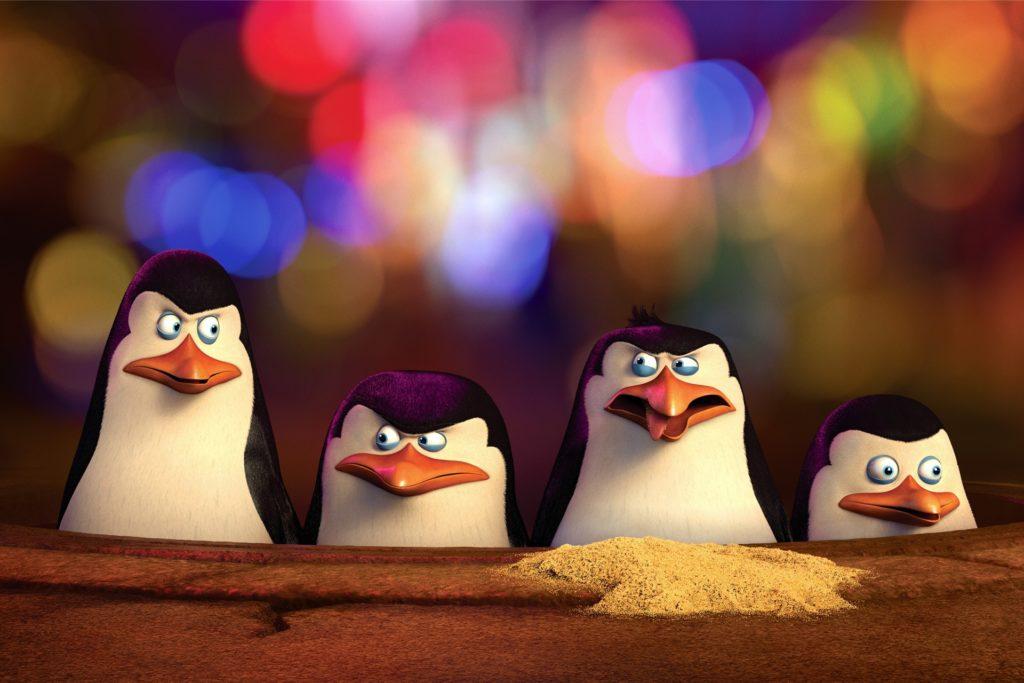 Kowalski, Skipper, Rico und Private sind die Pinguine aus Madagascar.