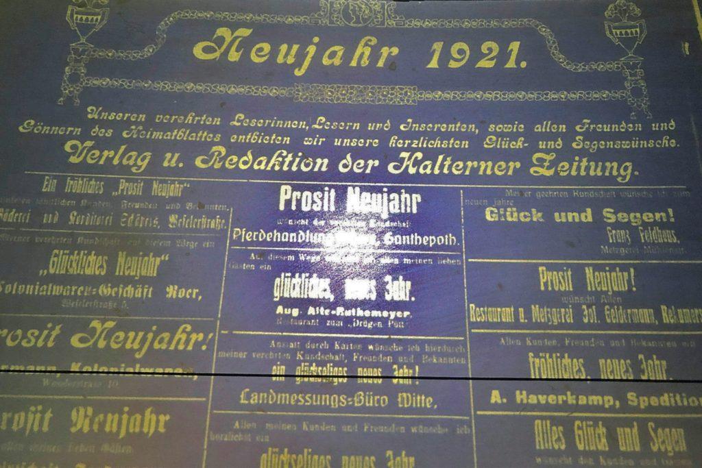 Jahreswechsel 1920/21