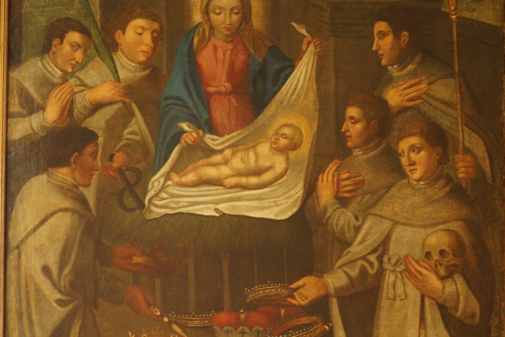 Dieses Ölgemälde im Pfarrhaus Cappenberg zeigt die Ordensgründung zu Weihnachte 1120.