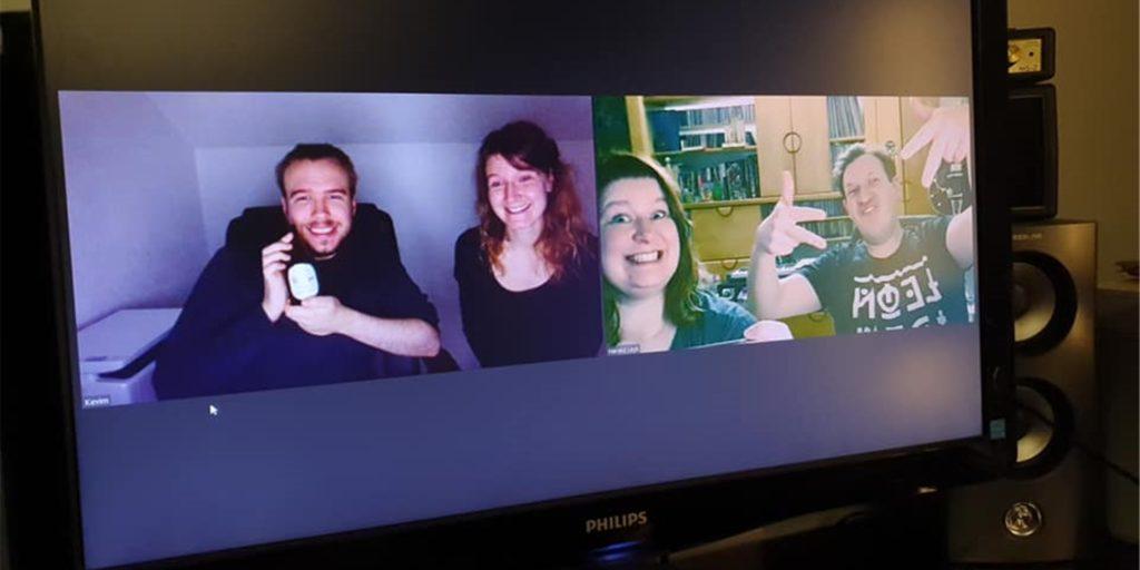 Die Castrop-Rauxeler Band Cherry Bomb feilt auch während des Lockdowns an ihrem Sound. Corona-konform allerdings per Videokonferenz.