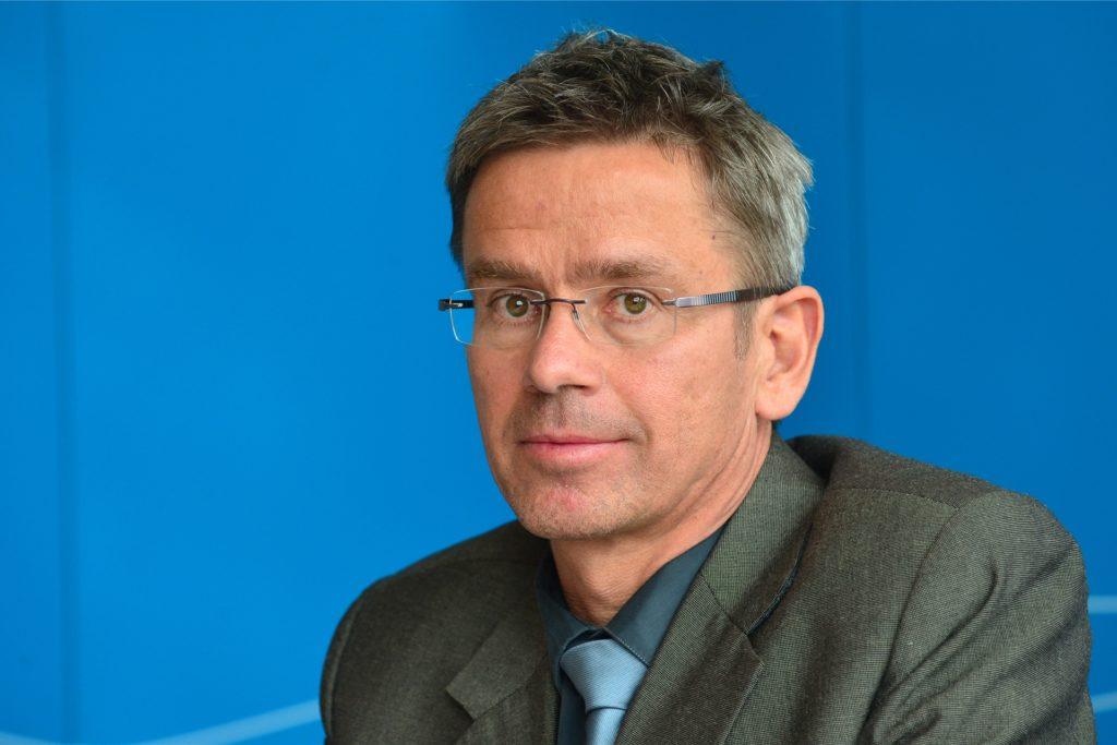 Stefan Rahmstorf bei der Thüringer Klimakonferenz. (Archiv)