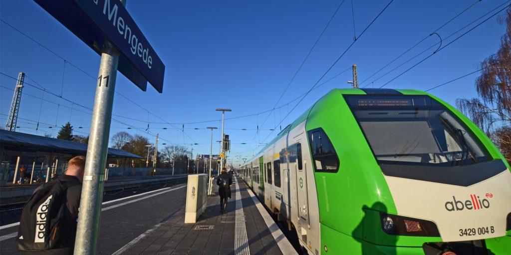 Die Bahn baut in der ersten Januarwoche, daher fallen Züge im Dortmunder Westen aus. Darunter auch am Bahnhof in Mengede.