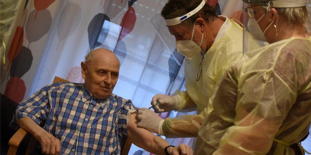 Im SPZ St. Ludger in Vreden ließen sich fast alle Bewohner impfen.