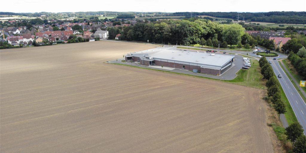 Rund um den Lidl in Bork liegt heute noch Acker: ein Baugebiet der Zukunft.