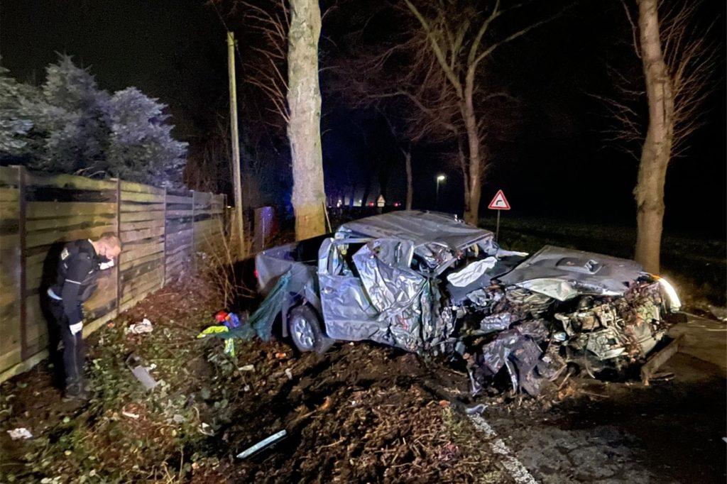 Bei dem Unfall entstand am Fahrzeug ein Totalschaden.