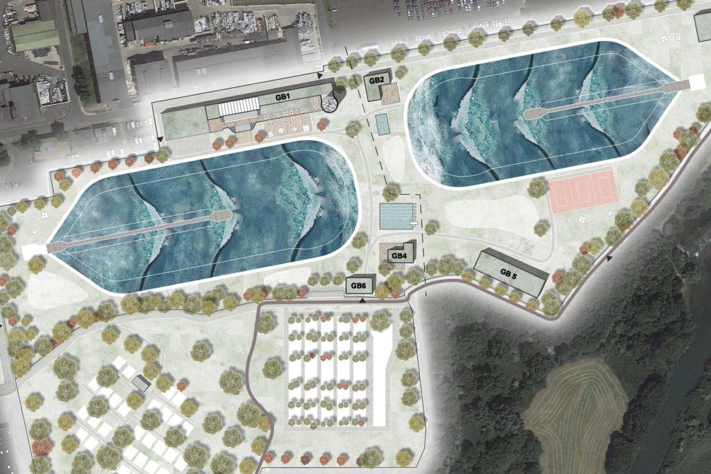 Zwei Hauptbecken sind der Blickfang der Surfwelt in Werne.