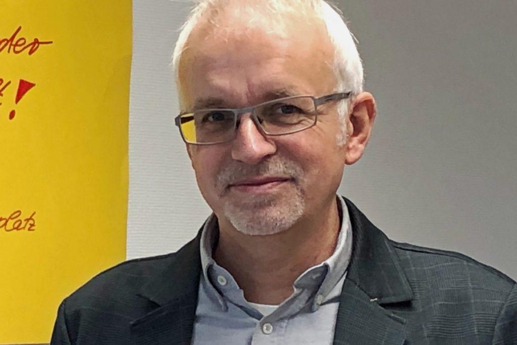 """Werner Stödtke, Bürgermeister in Südlohn, hofft, dass """"die Demokraten mit Joe Biden die USA wieder auf einen Weg der Vernunft"""" führen."""
