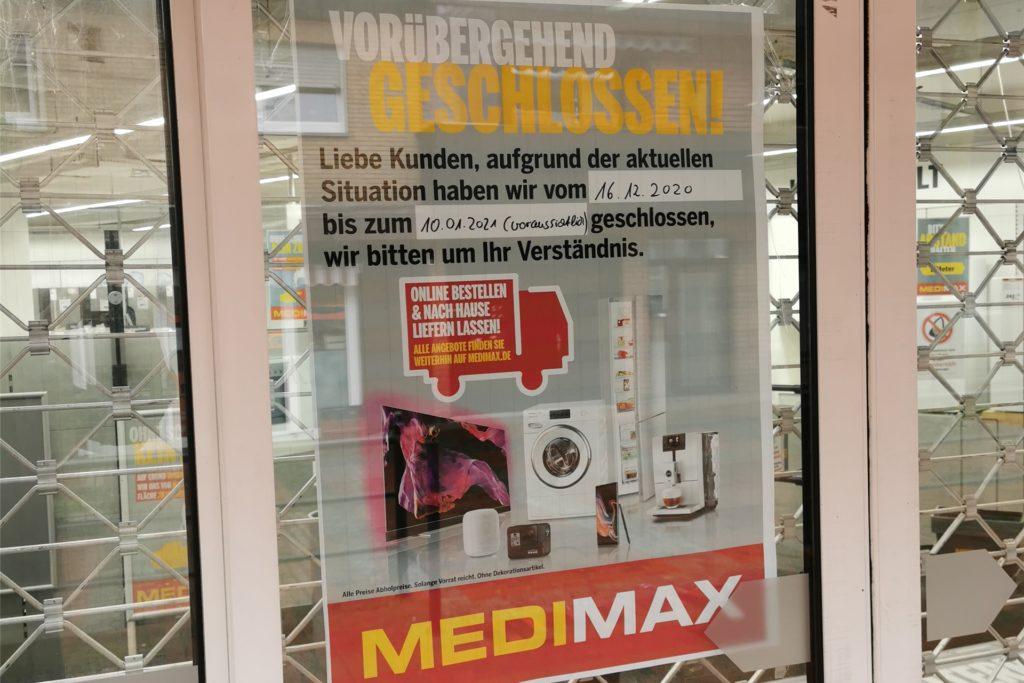 Zurzeit ist die Medimax-Filiale in Haltern geschlossen.