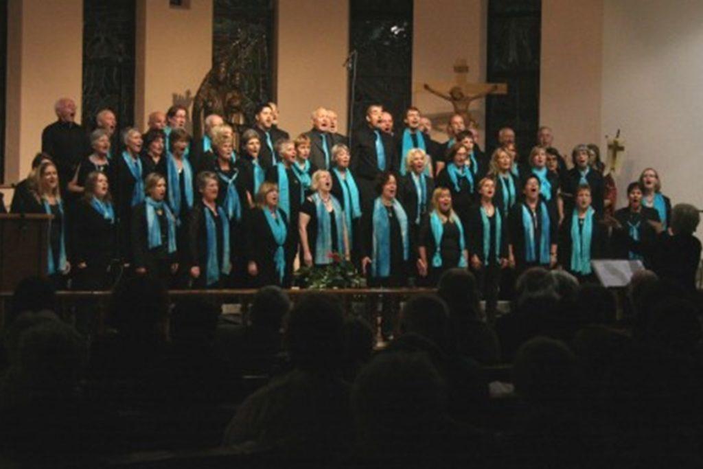 Der Gospelchor absolviert viele seiner Auftritte in Gotteshäusern.