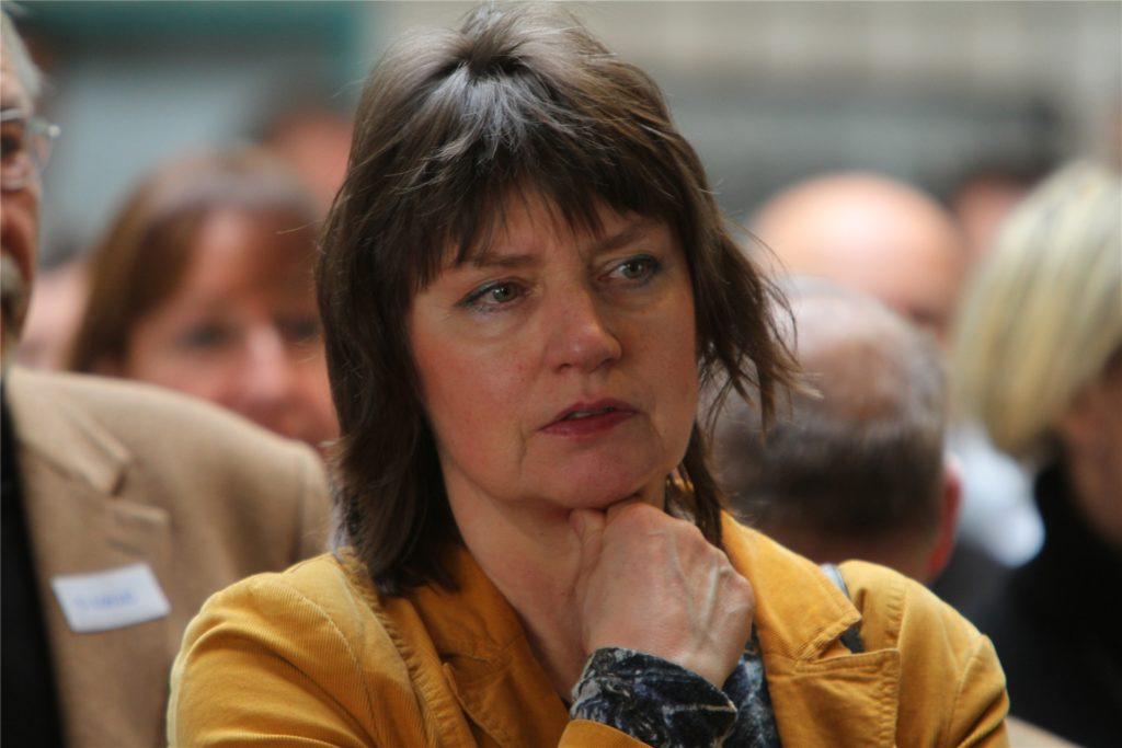 Hier ist Silvia Hollmann-Schiek bei einem Neujahrsempfang der CDU in Hombruch zu sehen.