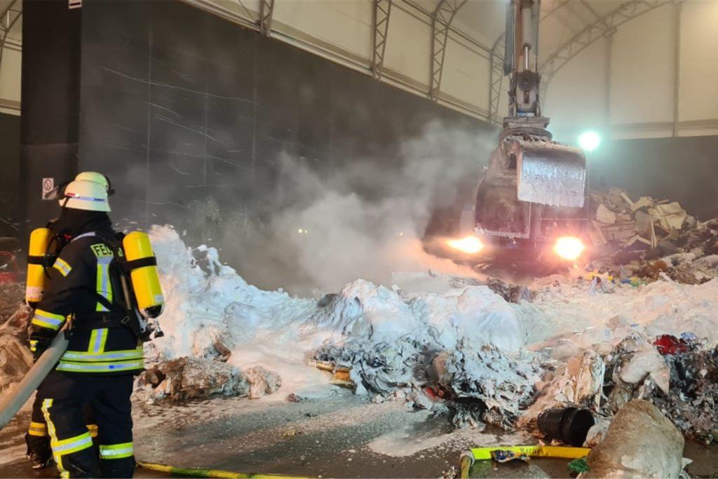 Einen Brand musste die Werner Feuerwehr bei der Firma RCS bekämpfen.