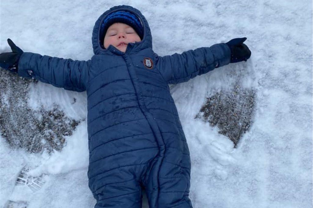 Ein richtiger Schneeengel.