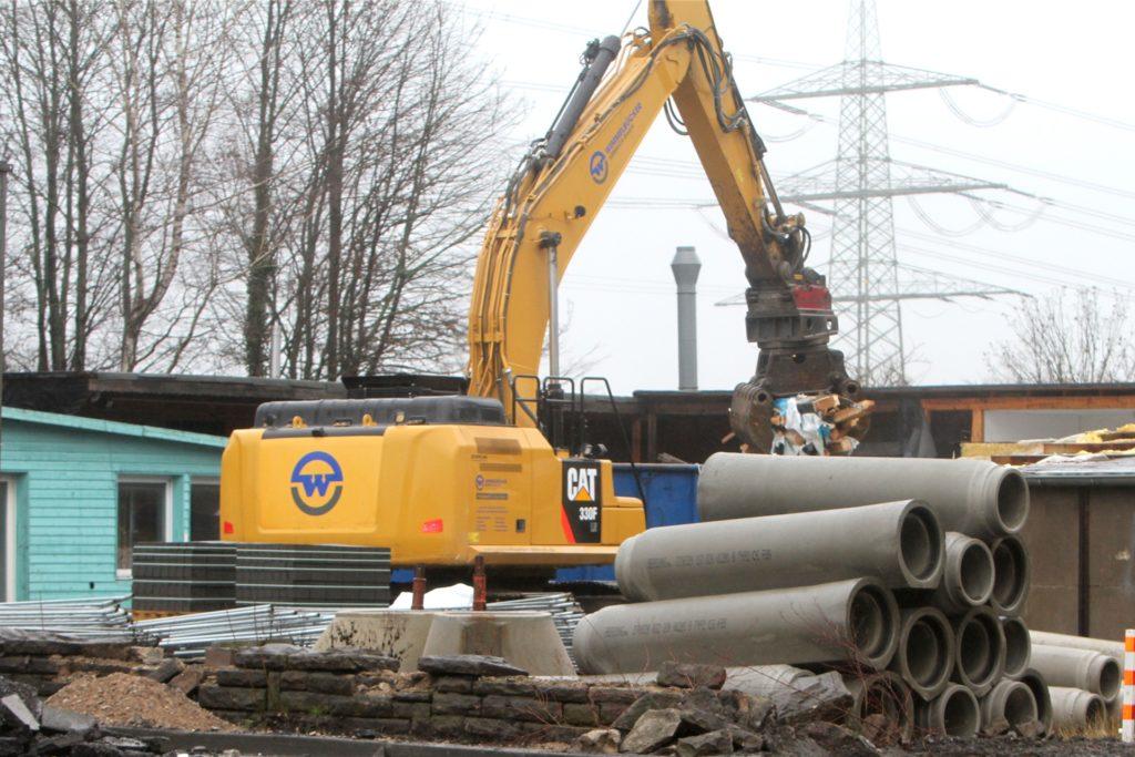 Die Häuser an der Hörder Straße werden für den Ausbau der B236 abgerissen.