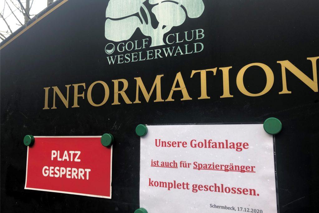 Wegen der Corona-Krise ist der Golfplatz derzeit geschlossen.