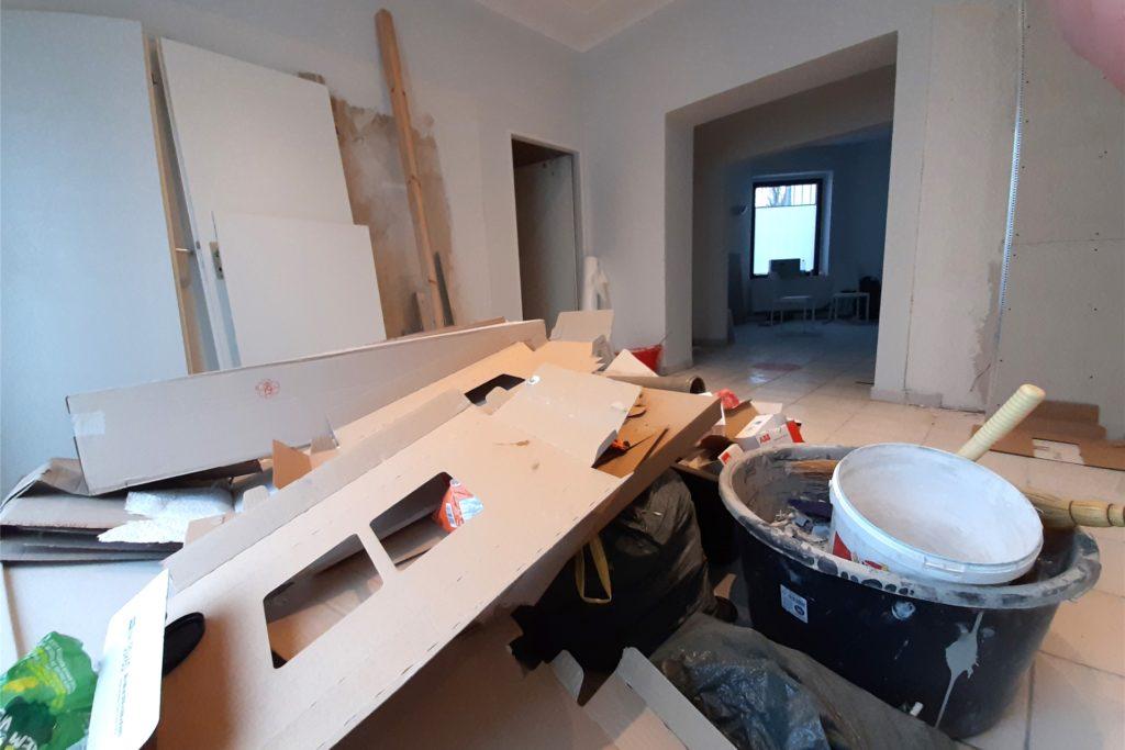 Noch sieht es in den Räumen an der Preinstraße nicht nach Arztpraxis, sondern nach Baustelle aus.