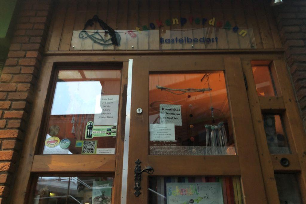 """Das """"Steckenpferdchen"""" liegt etwas versteckt in einer Nische des Lippezentrums an der Münsterstraße. Dennoch läuft der Laden von Ute Lange gut."""
