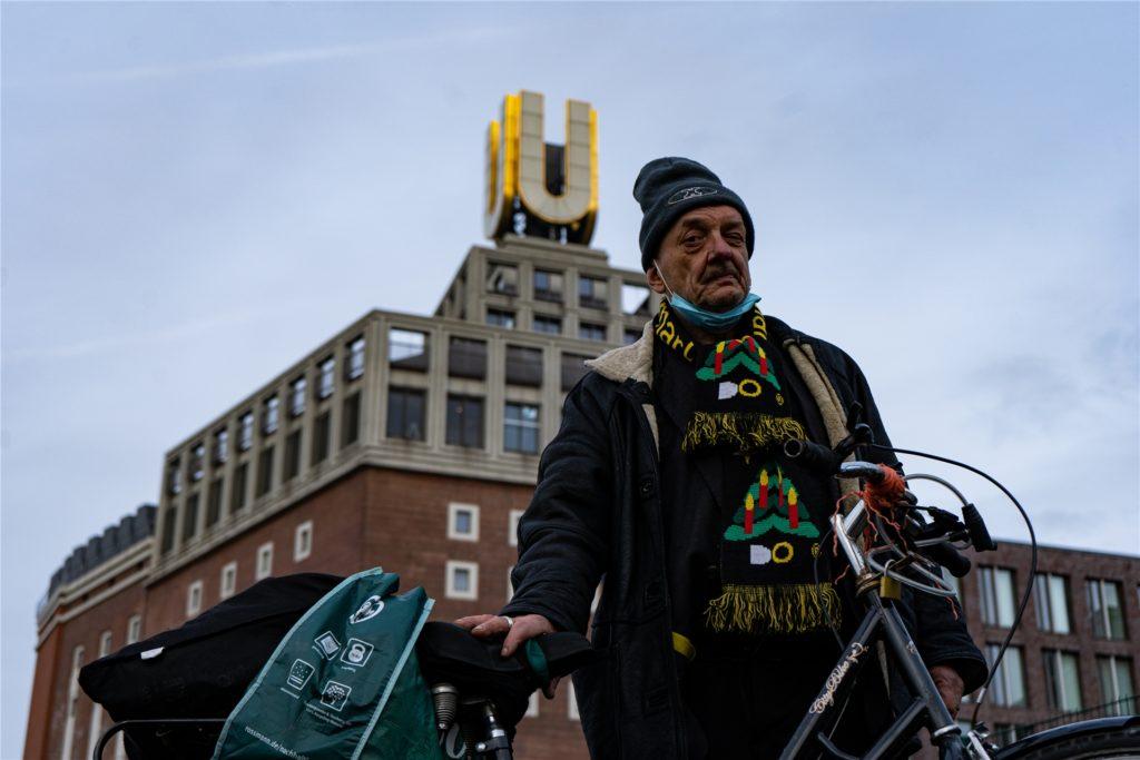 Oft ist Wotzlaw am Dortmunder U anzutreffen – er ist Dauergast im Winter-Nothilfe-Zelt.
