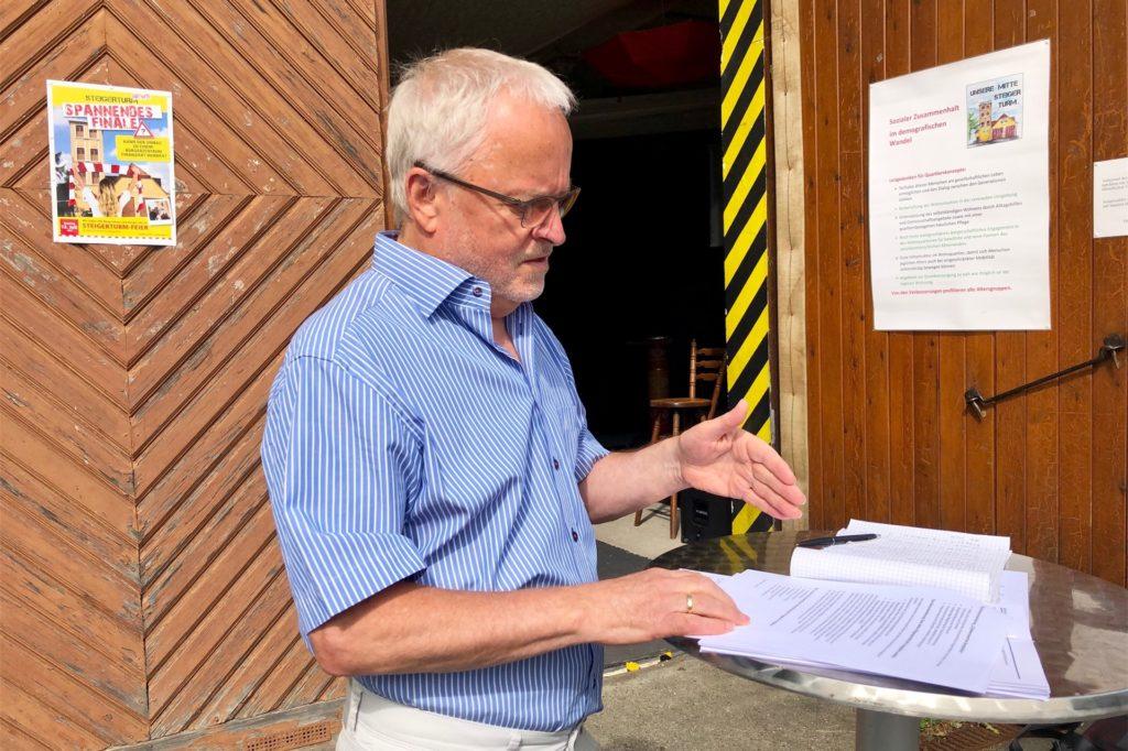 Winfried Liebig ist Vorsitzender des Vereins