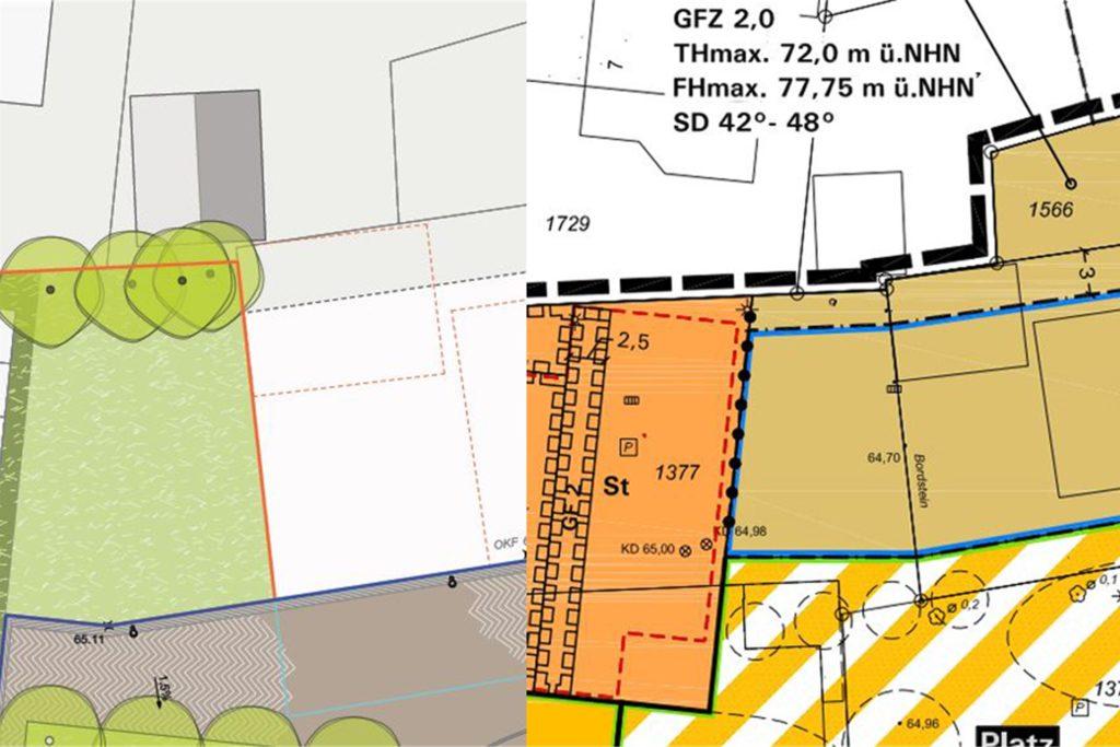 Das ehemalige Gelände des Getränkemarktes Hölscher kann theoretisch bebaut werden. In vorherigen Planungen war die Fläche als Grünfläche dargestellt, in den neuen Plänen ist das Gelände, das sich zum Teil im Privat-, zum Teil im Gemeindebesitz befindet, als bebaubares Grundstück ausgewiesen.