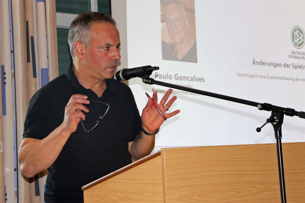 Paulo Goncalves, Vorsitzender des Kreis-Schiedsrichterausschusses