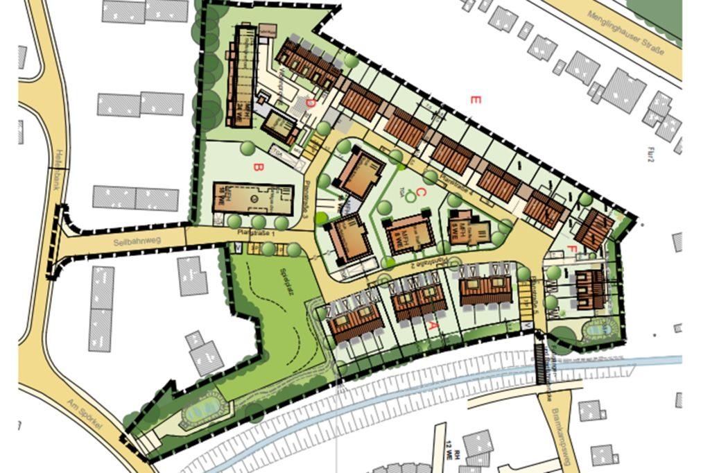 So wird die Fläche in Menglinghausen einmal aussehen. Oben links ist der Bereich des W.I.R-Projektes.