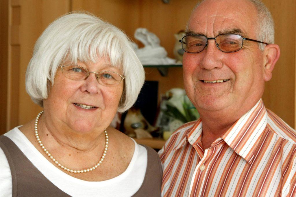Marlis und Horst Hupe an ihrem 50. Hochzeitstag im Jahr 2012.