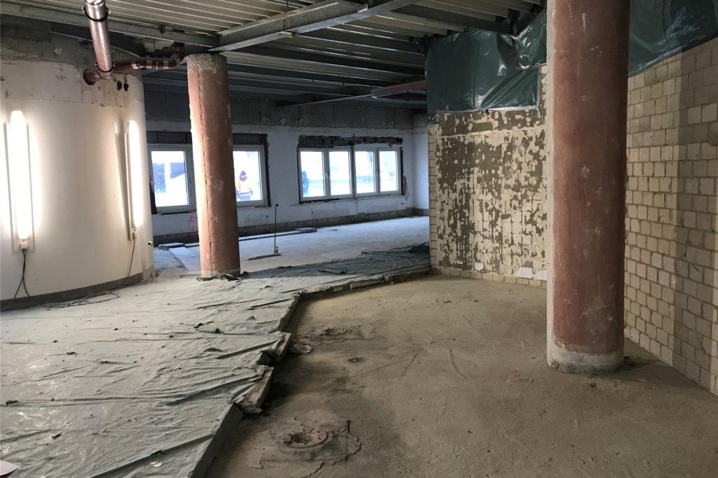 An die Substanz gehen die Sanierungsarbeiten im Rathaus. Die oberen Etagen sind bereits