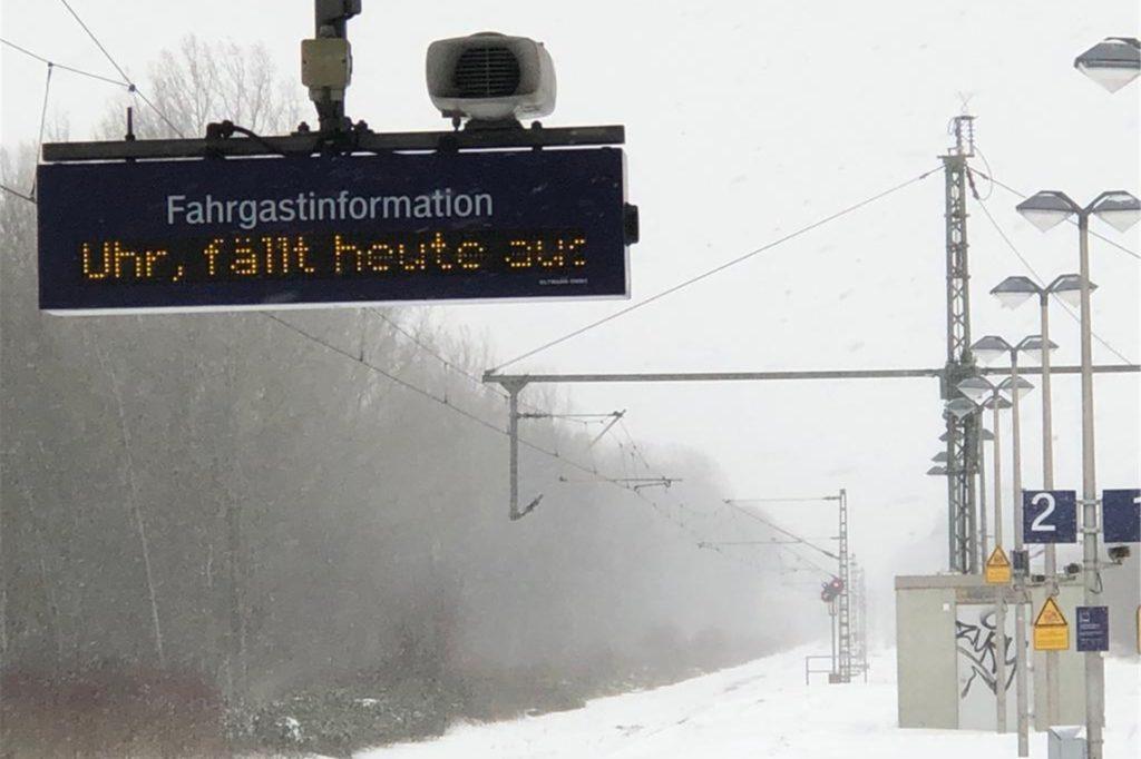 Bis mindestens noch 16 Uhr fallen die Züge der Eurobahn aus.