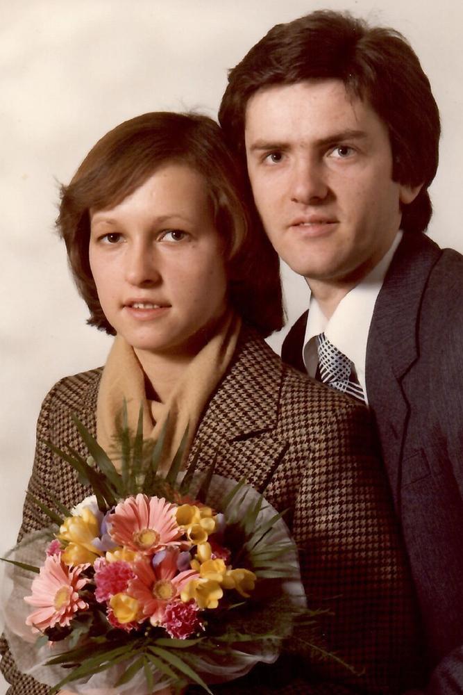 Das Hochzeitsfoto von Jutta und Hans-Joachim Georgi vom 10. Februar 1978. Exakt 43 Jahre später wird ihre Tochter heiraten - unter den gleichen Bedingungen.
