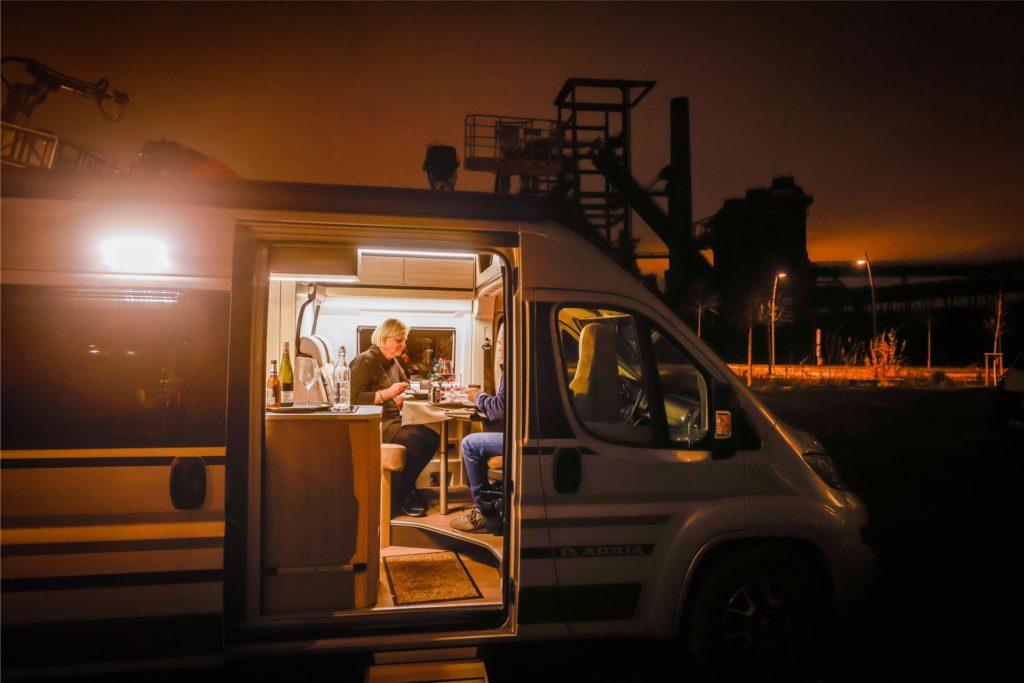 Auch Gäste aus Niedersachsen nutzten die Gelegenheit zu einem gemütlichen Dinner im Eigenheim auf vier Rädern.