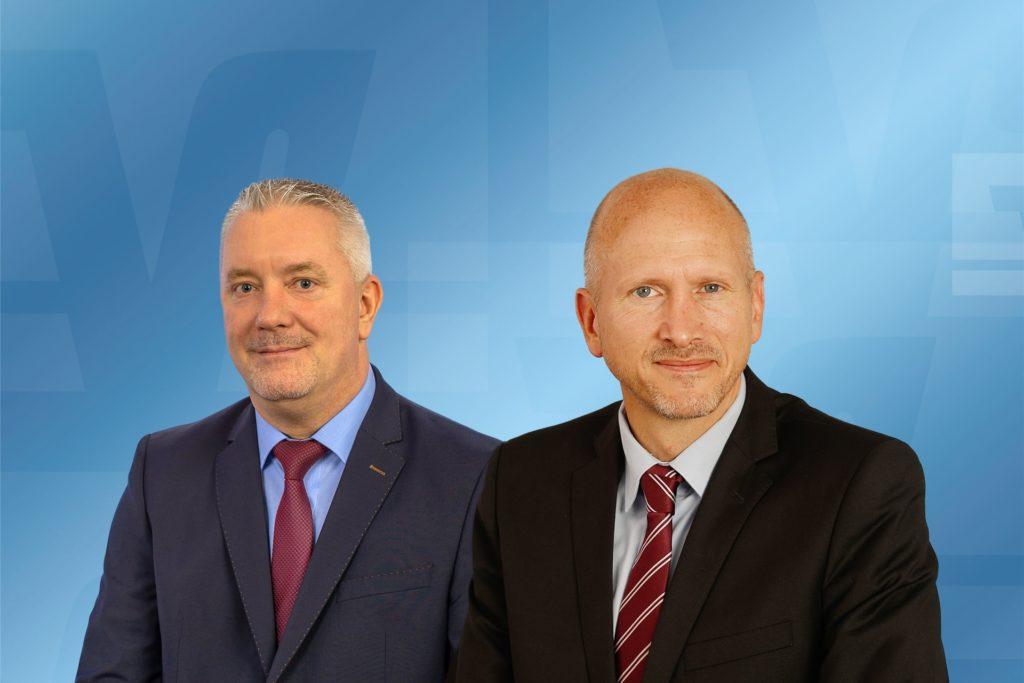 Die Niederlassungsleiter der Volksbank Castrop-Rauxel, Markus Göke (r.), und der Volksbank Henrichenburg, Oliver Baron, sprachen am Mittwoch von einem sehr erfolgreichen Geschäftsjahr 2020.