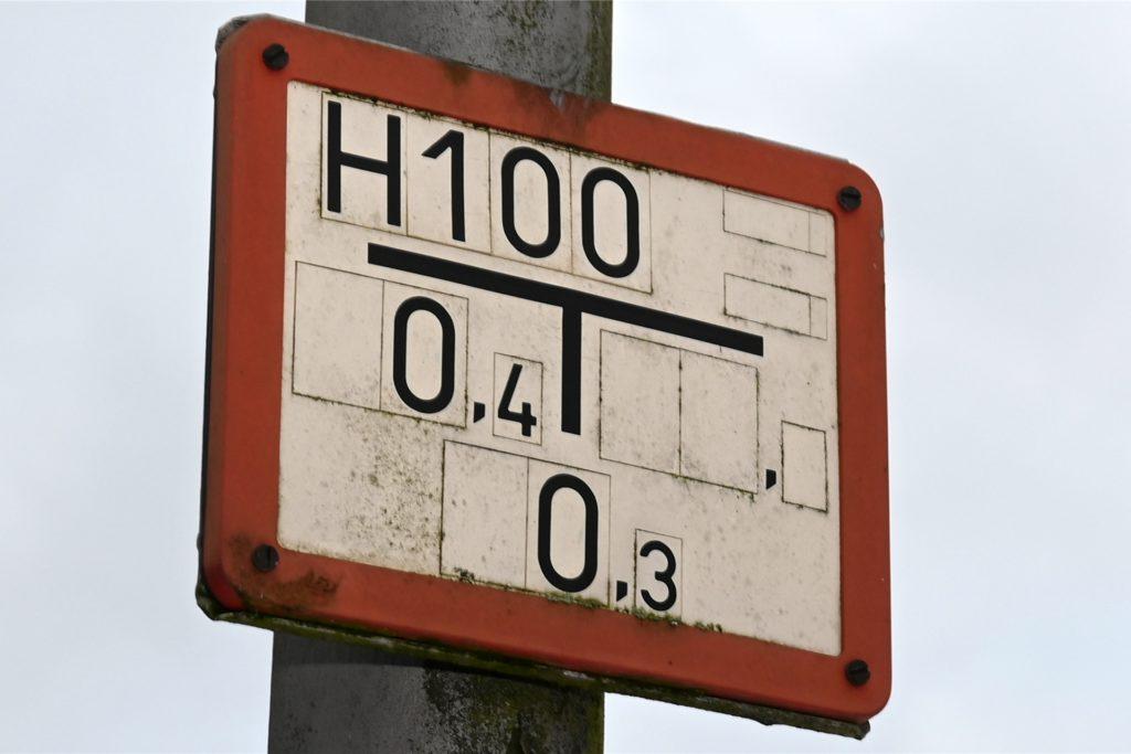 Hinweisschild Hydrant