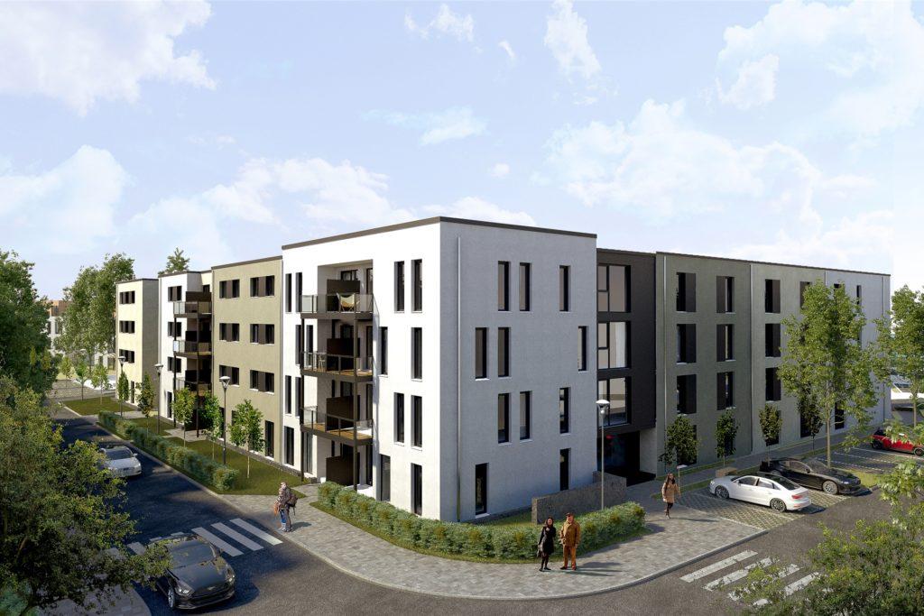 So wird die weitere Wohnbebauung aussehen.