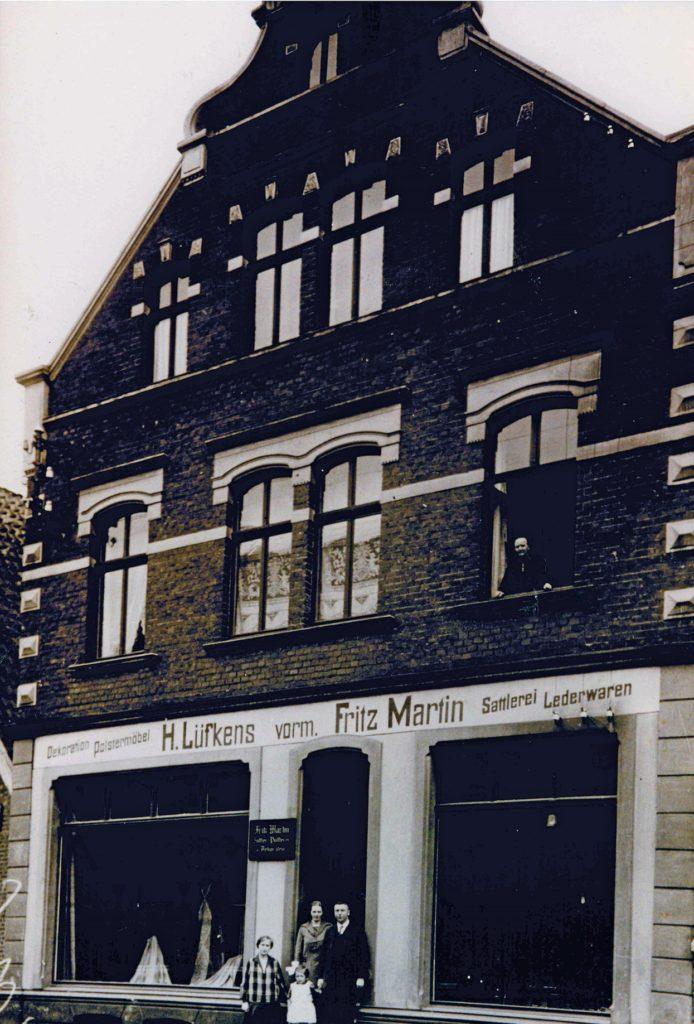 Das Haus Lüfkens an der Dufkampstraße im Jahr 1925. Es wurde bei der Bombardierung Stadtlohns im März 1945 zerstört.