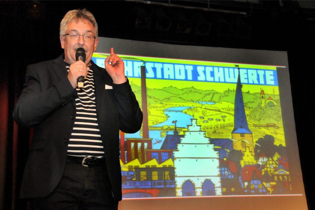 Als Quizmaster und Entertainer stand Uwe Fuhrmann bei 14 Heimatabenden auf der Bühne der Rohrmeisterei.