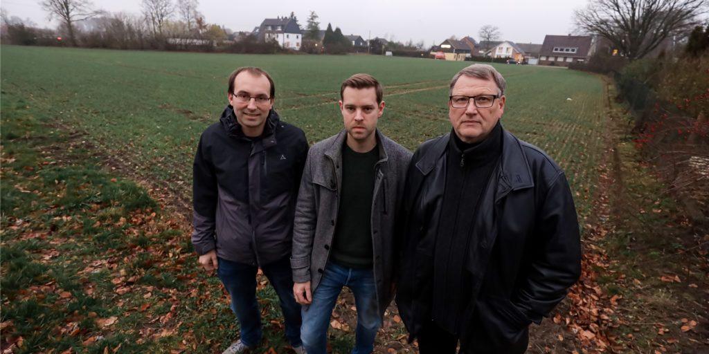 Bernd Maaßen, Sebastian und Georg Hönes haben die Bürgerinitiative Feldhausen gegründet.