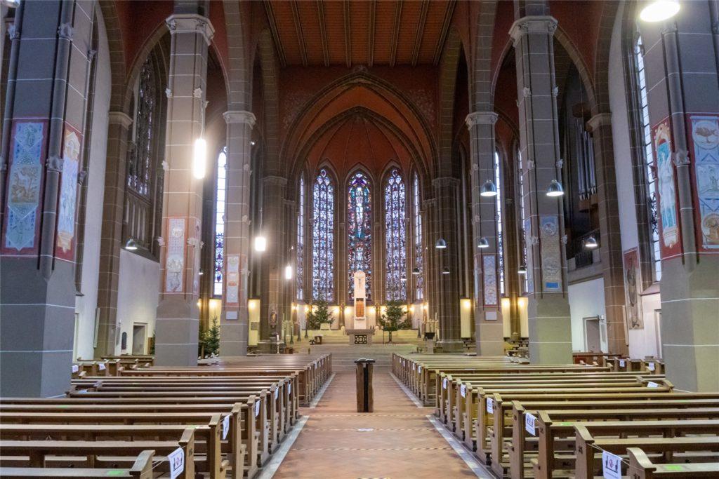 Ab Samstag werden wieder öffentliche Gottesdienste in der St.-Otger-Kirche angeboten.