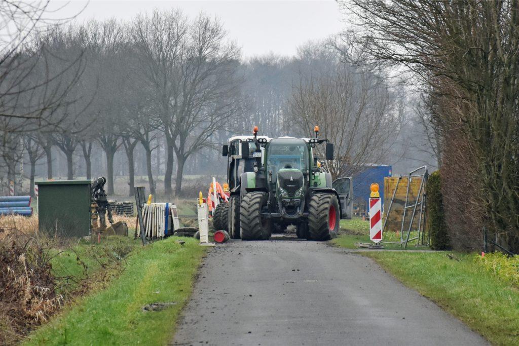 In der Südlohner Bauerschaft Tünte laufen Bauarbeiten: Entlang der alten